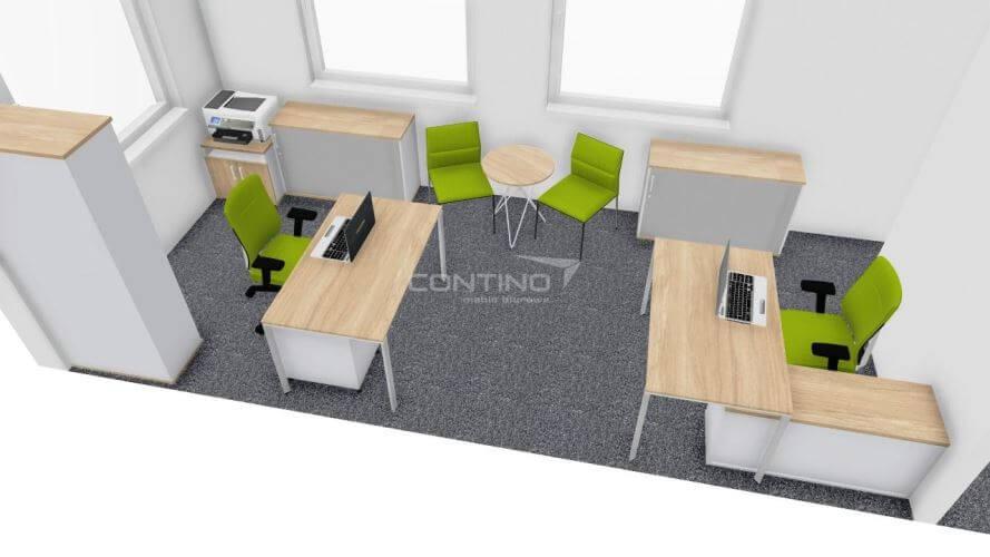Aranżacja małego biura