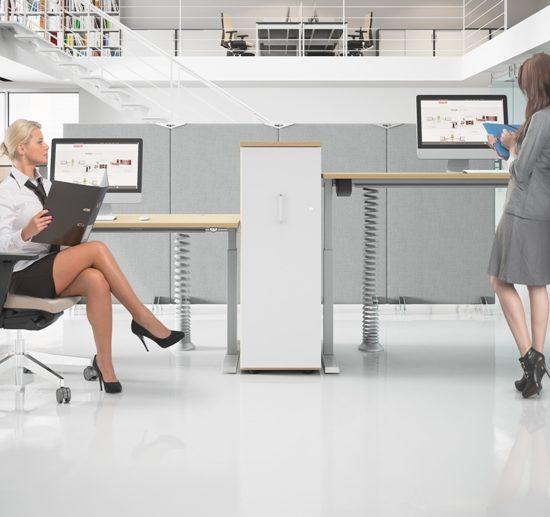 biurka z regulacją elektryczną